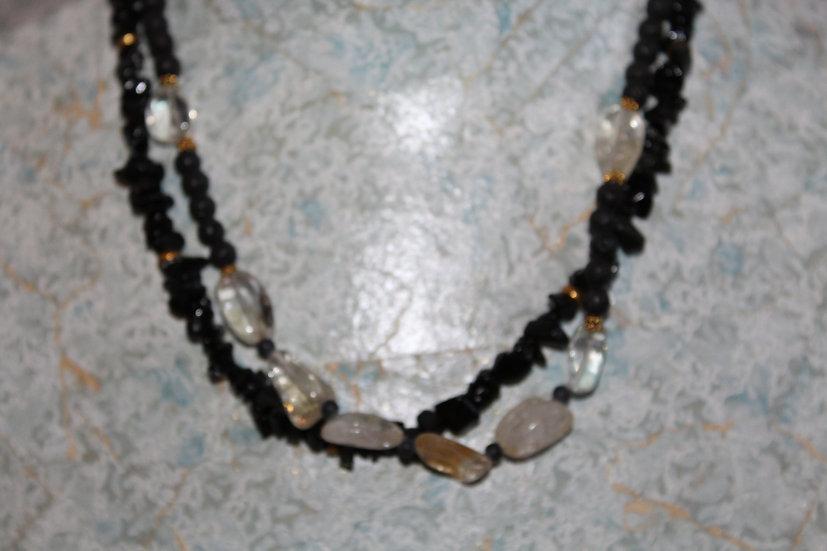Lavastone, Citrine & Obsidian