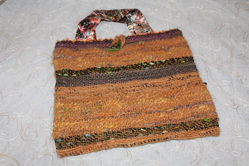 Alpaca  & Silk Woven Purse