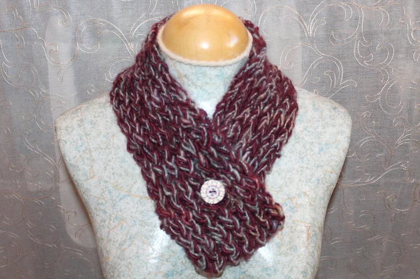 Mohair + Leicester Long Wool Fiber Cowl