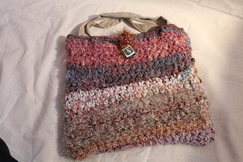 PRS27 - Mixed Fiber Crocheted Purse