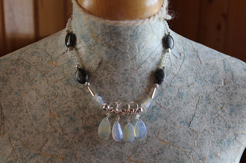 Moonstone, Labradorite & Sterling