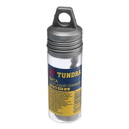 Бита с торцевой головкой TUNDRA, с магнитом, сталь CrV, 17*65 мм.