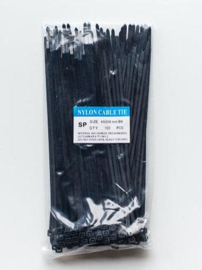 Стяжка нейлоновая 4*200 (чёрные 100шт)