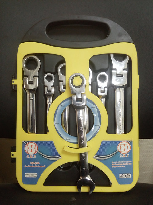 Набор ключей комбинированных трещоточных гибких O.M.Y