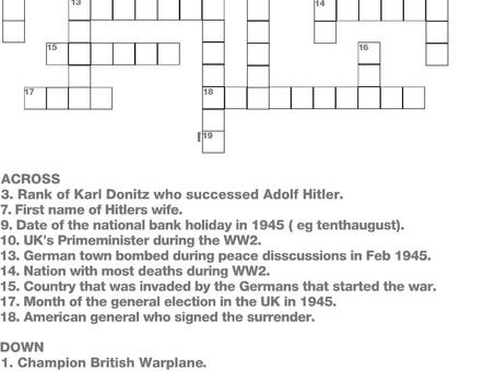 VE day crossword