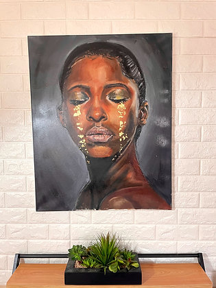 Golden Tears  ( Original Painting)