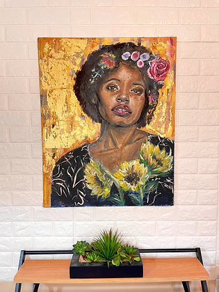 The Florist (Original Painting on Canvas)