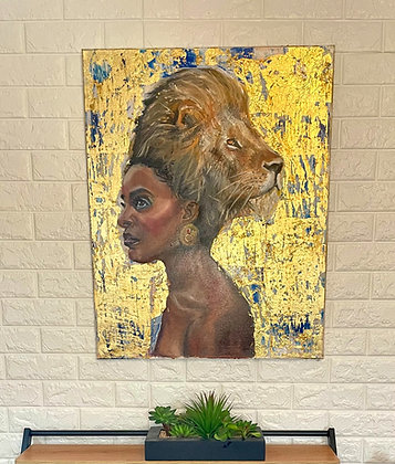 Pride in Your Hair (Original Painting on Canvas)
