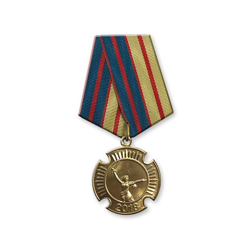 """Нагрудный знак """"Участнику Парада Кадет"""" 2018 (медаль)"""