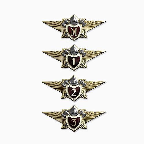 Знаки классности МЧС РФ (офицерский состав)