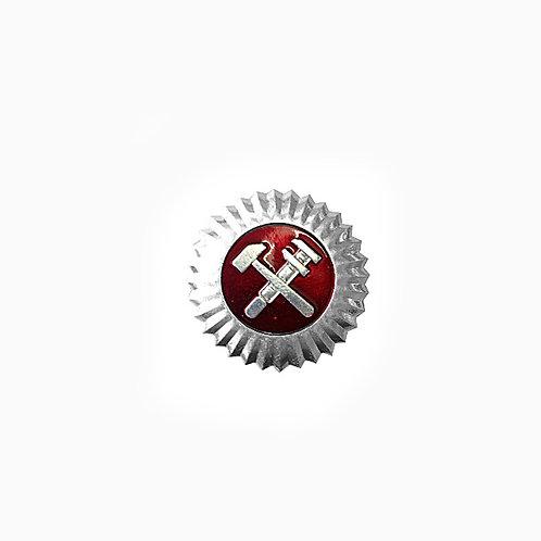Кокарда РЖД серебро
