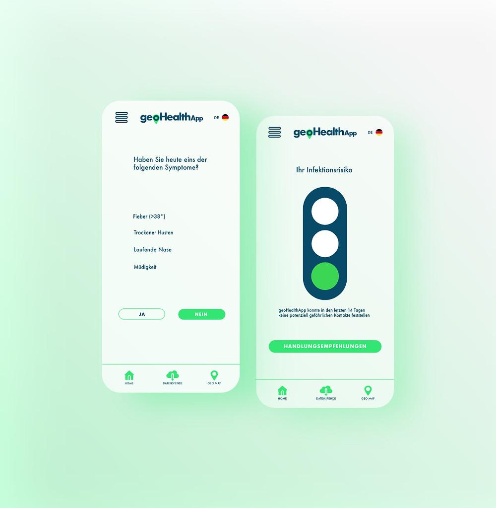 UIUX Design GeoHealthApp