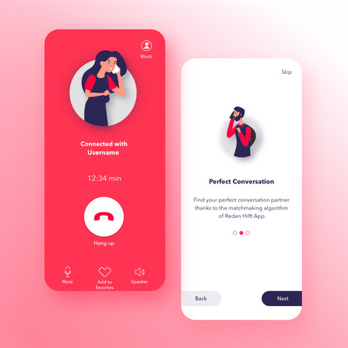 Designing RedenHilft App - Anonymous calls with the perfect conversation partner - Case Study