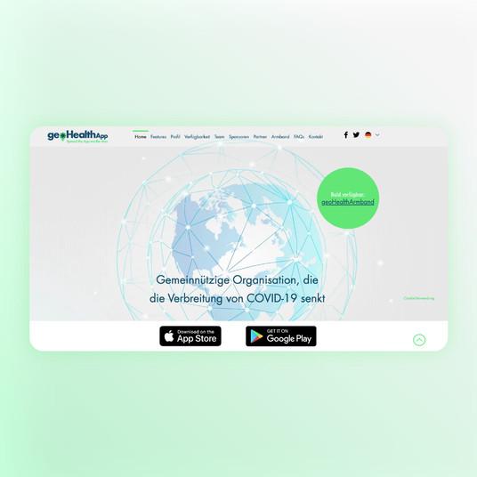 GeoHealthApp Webdesign UI/UX