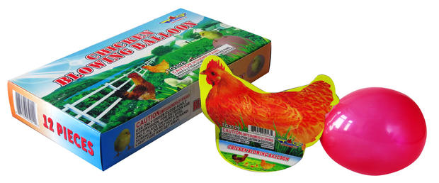CHICKEN BLOWING BALLOON TG5029