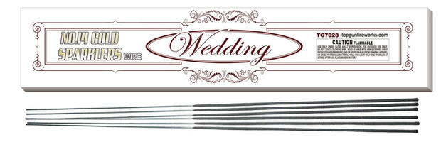#14 GOLD WEDDING SPARKLERS tg7028