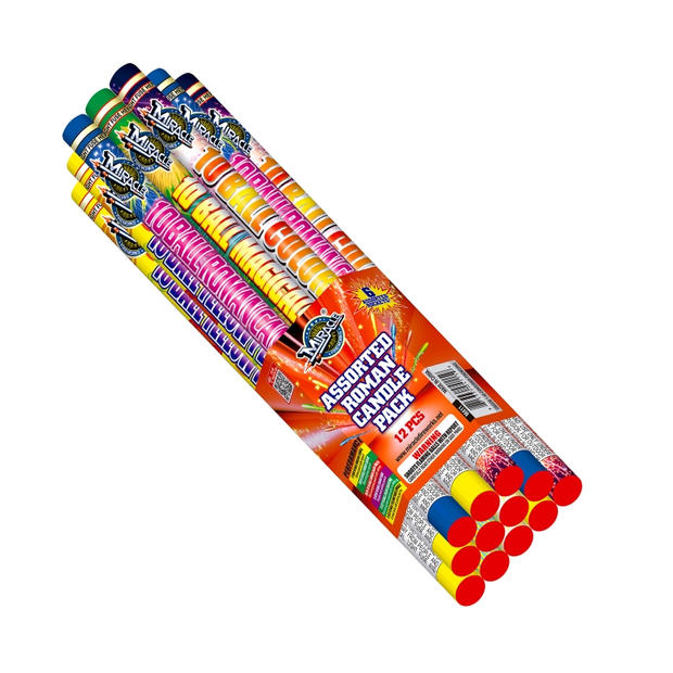 ASSORTED ROMAN CANDLE PACK M411