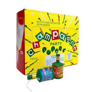 BOX OF CHAMPAGNE PARTY POPPERS
