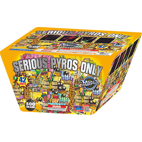 SERIOUS PYROS ONLY 42 SHOTS