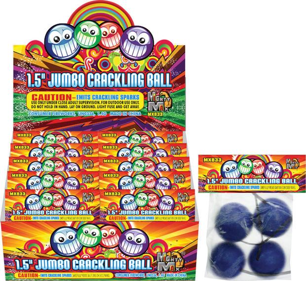 JUMBO CRACKLING BALL 1.5 INCH MX833