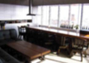 e-terrace 11F カウンター 料理教室 パーティ会場 桜島の眺め