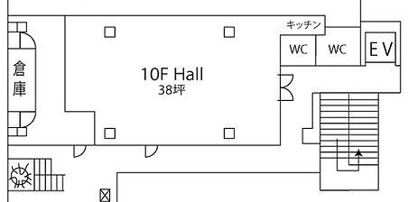e-terrace 10F Hall いいテラス 桜島がみえる