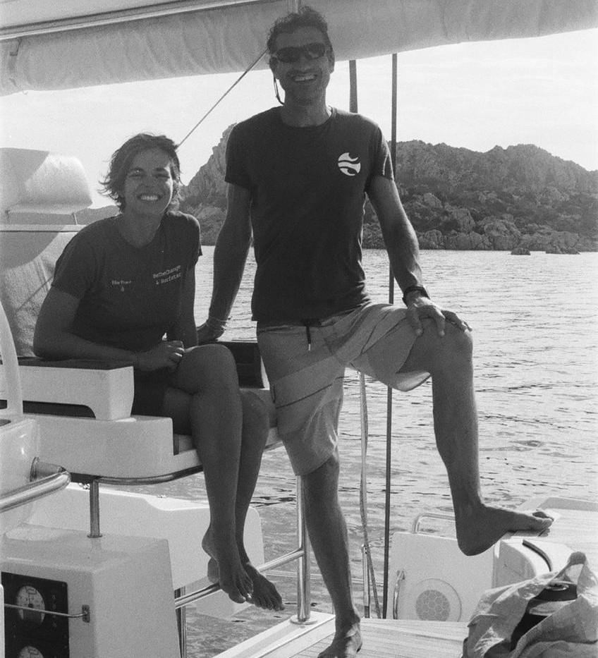 Skipper & Hostess on board of Lagoon 52.