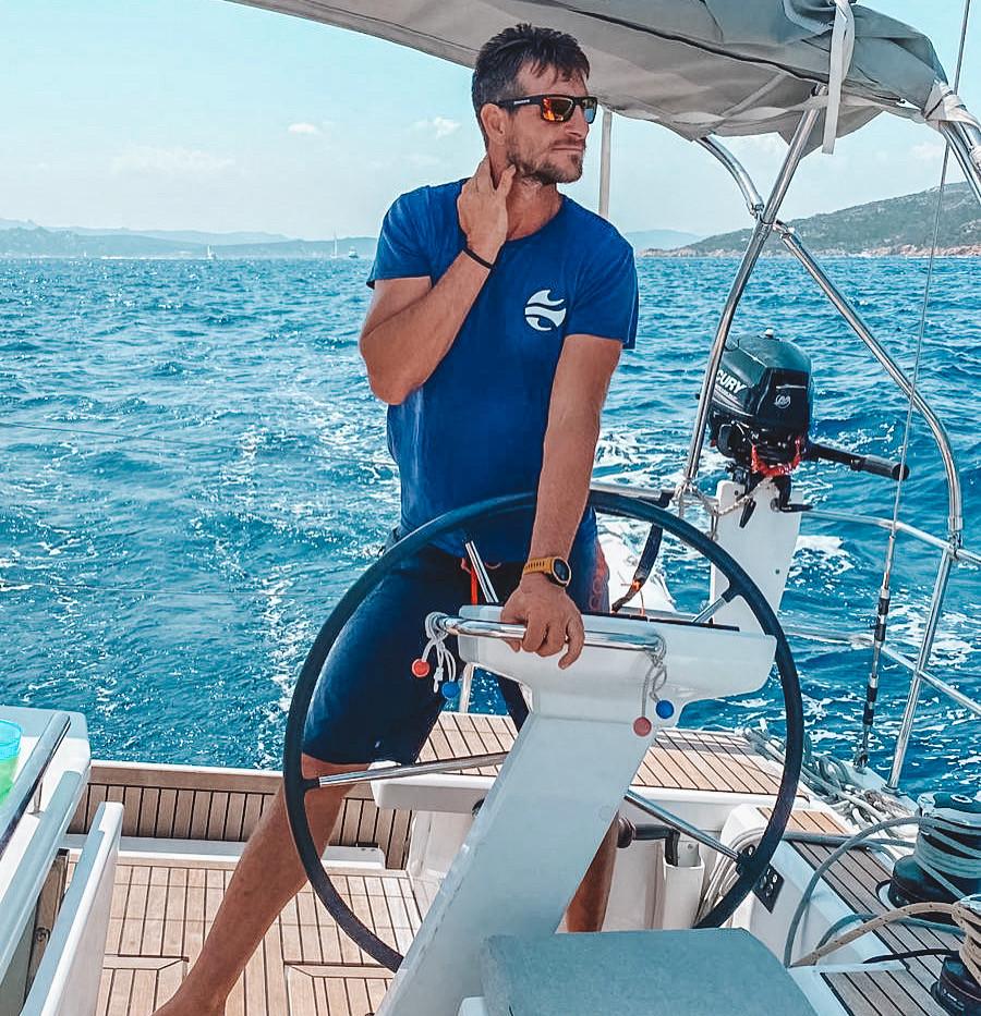 Sailing Sardinia. Boat: Oceanis 46.1 'Oceania'.