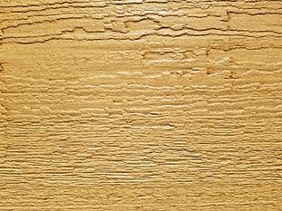 Light brown/beige with dark stain