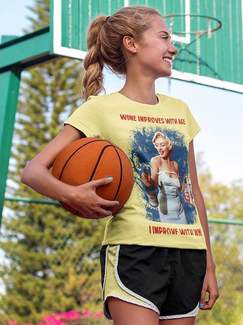 Marilyn Monroe Wine Retro T-Shirt