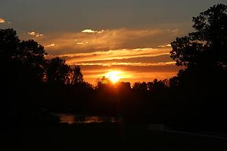 Sunset in Pakalne river