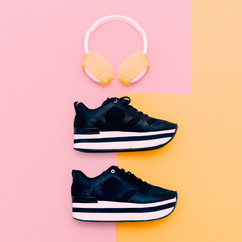 Sneakers and Ear Warmers