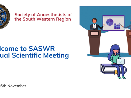 Society of Anaesthetists of the South Western Region – Virtual Scientific Meeting 2020