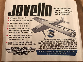 Javelin box cover