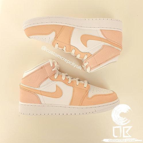 Custom Air Jordan 1 Mid (Peach & Pink)