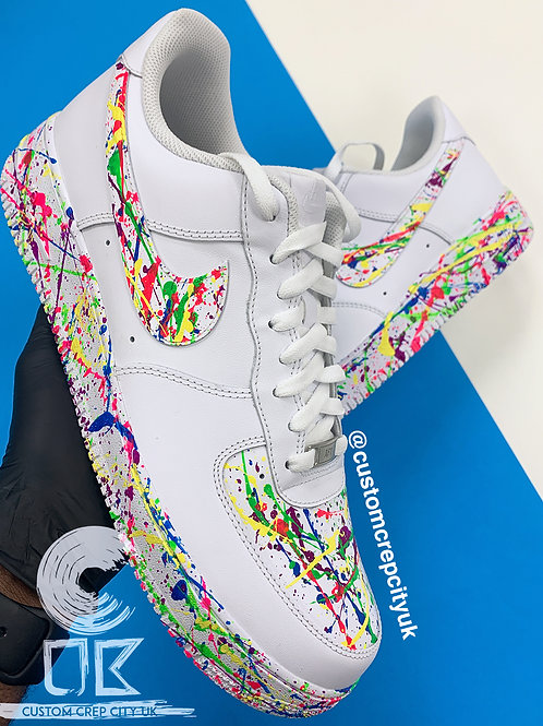Custom Nike Air Force 1 Low (Multi Colour Splatter)