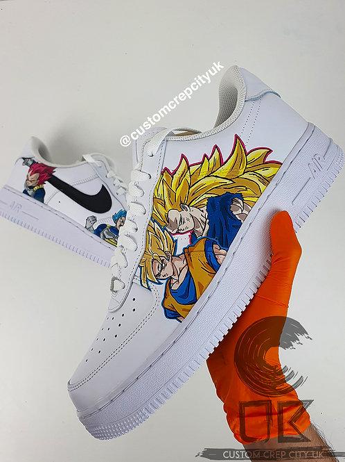 Custom Nike Air Force 1 Low (Goku x Vegeta 2.0)