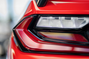 Eyes of Fire. A designer's dream of lines, angle and color. Corvette C8 @autosaggio