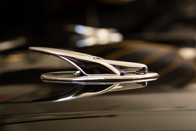 Chrome on Black. 1956 Corvette @autosaggio