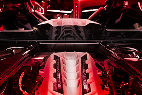 El Diablo. This engine breathes fire - 490 hp. 465 lb/ft. 6.2-liter LT2 V8  Corvette C8 @autosaggio