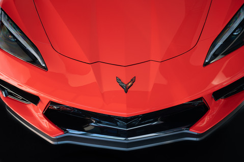 Fast Forward. The epitome of a sportscar is to look fast when at rest. Mission accomplished. Corvette C8 @autosaggio