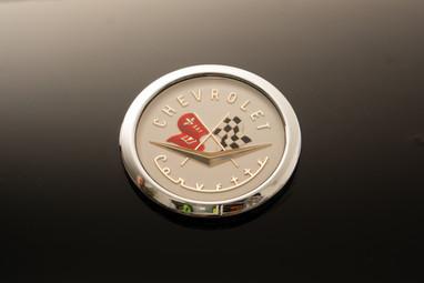 Back in Black. 1956 Corvette emblem @autosaggio
