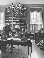 Barbara and friends in the library