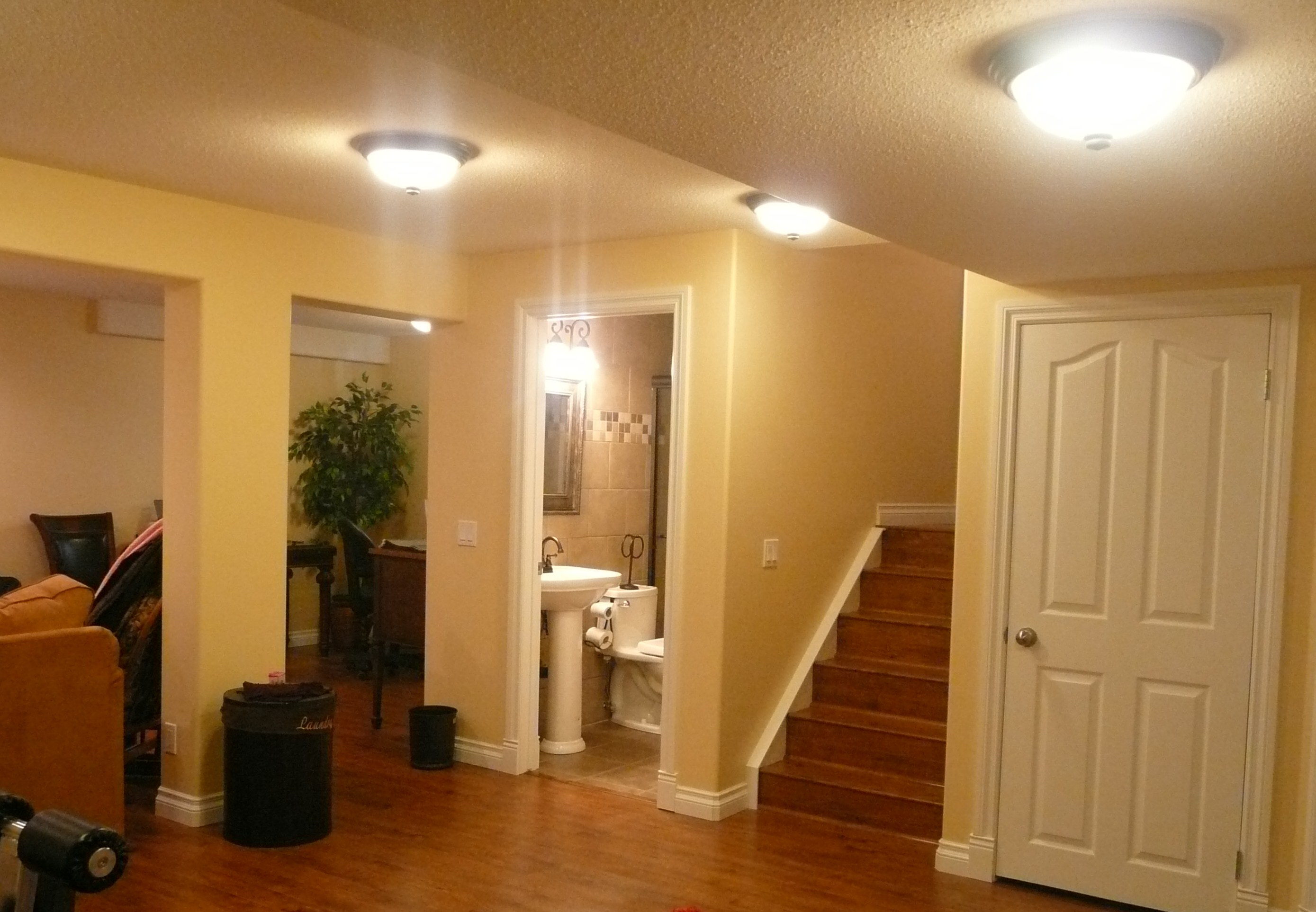 basement with bathroom