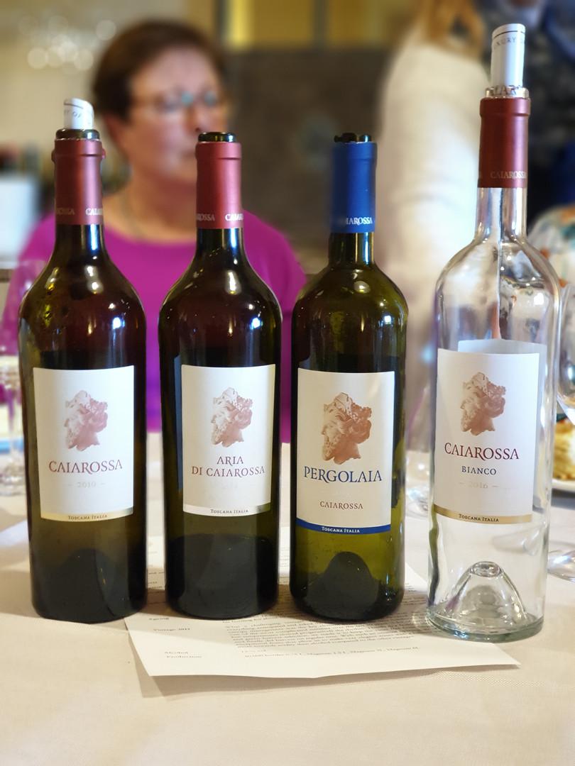 Vinprovning på Caiarossa
