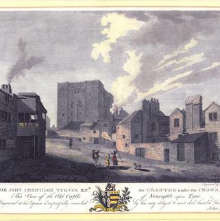 Castle Keep Engraving, 1786