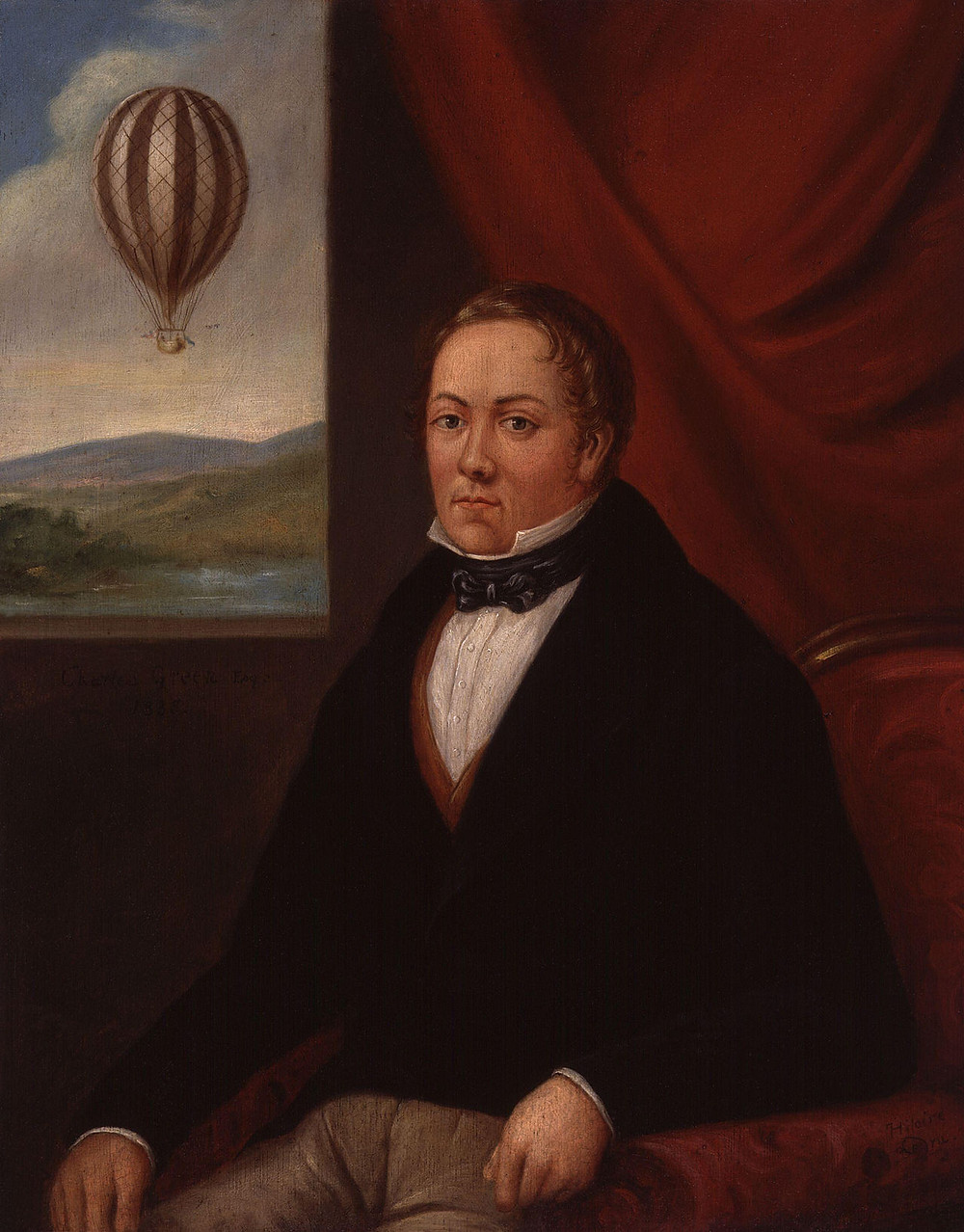 Portrait of balloonist Charles Green, from 1835