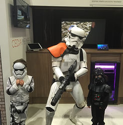 Me and the kids dressed as starwars characters.