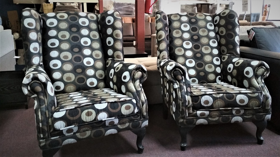 2x Wingback Chairs
