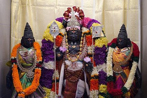 Sri  Karthikeya with Valli, Devasena